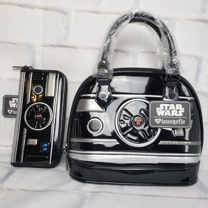 Loungefly Star Wars BB-9E Mini Dome Bag and Wallet